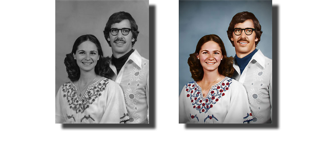 How To Restore Color To A Black And White Photo