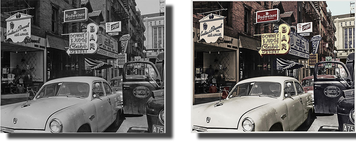 Turn black and white photo into color online
